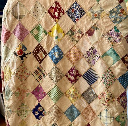 Antique patchwork quilt top
