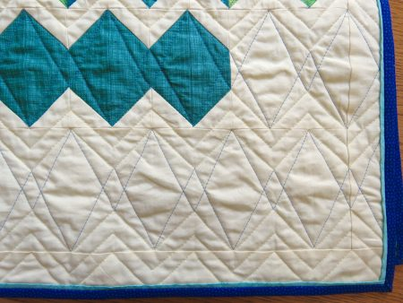 detail of quilting stitches
