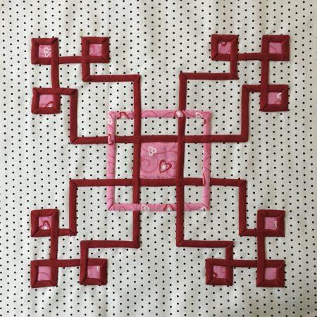 Celtic style applique quilt block